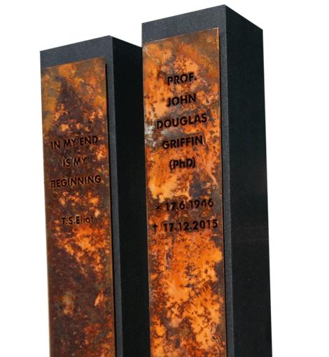 Individuell gestaltete Grabsteine und Grabmale von Steinmetz- und Bidhauermeister Dietrich Oehler Köln